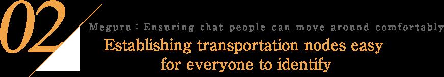 02 めぐる:気持ちよく動ける 誰にでもわかりやすい交通結節点へ