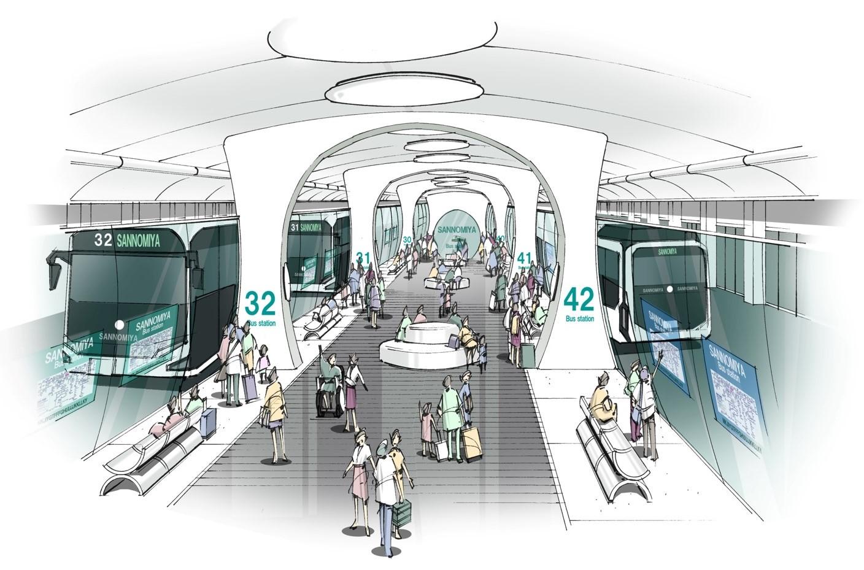 (イメージパース図)新たなバスターミナル