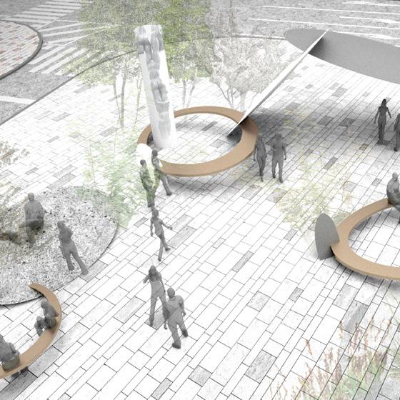 神戸三宮「さんきたアモーレ広場」の新たなデザイン決定