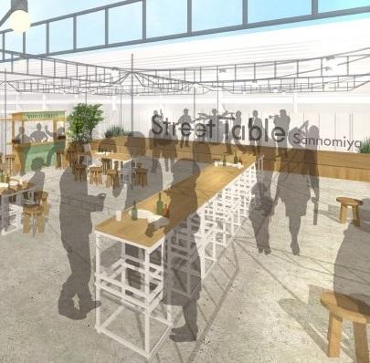 みんなでそだてる!食と音楽でにぎわう駅前広場『Street Table三ノ宮』JR三ノ宮駅ビル跡地でオープン!