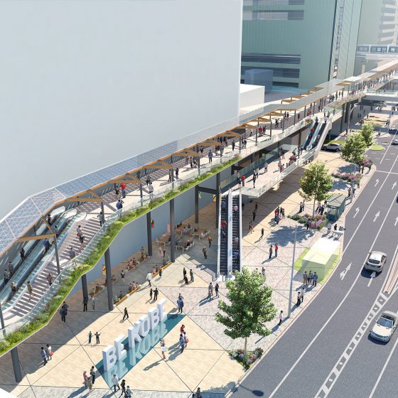 三宮駅周辺歩行者デッキ設計コンペの結果発表